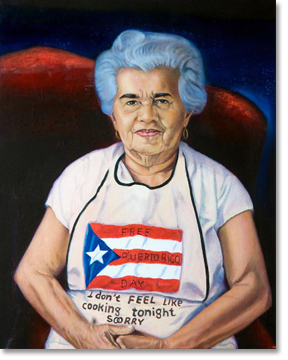 Mita, Oscar's mother. All painting images courtesy of Oscar López Rivera and the National Boricua Human Rights Network.