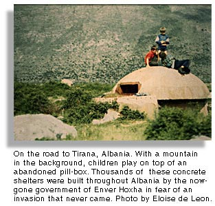 On the road to Tirana, Albania. Photo by Eloise de Leon.
