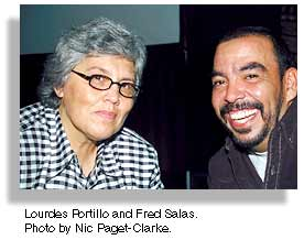 Lourdes Portillo and Fred Salas. Photo by Nic Paget-Clarke.
