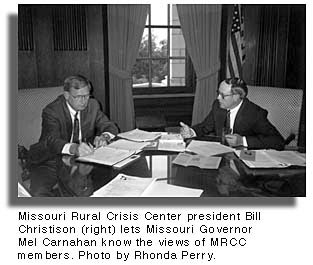 MRCC President Bill Christison and Missouri Governor Mel Carnahan