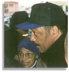 Rosa Parks and Rev. Jesse Jackson. Photo by Butch Wing.