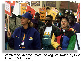 Marching to Save the Dream. Los Angeles. Photo by Butch Wing.