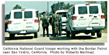 California National Guard working with the Border Patrol.
