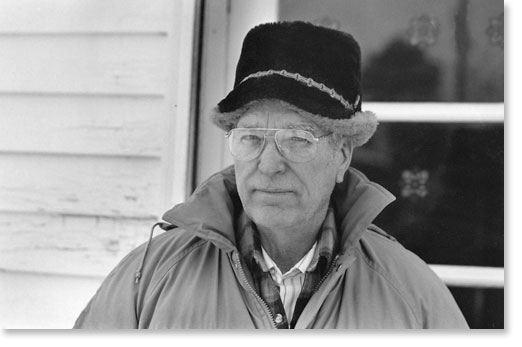 Merle Hansen, past president of the North American Farm Alliance on his farm in Nebraska, 1993. Photo by Nic Paget-Clarke.