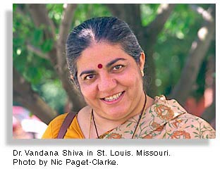 Dr. Vandana Shiva. Photo by Nic Paget-Clarke