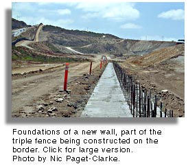 New wall on U.S./Mexico border