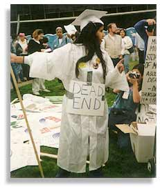 In support of affirmative action, July 1995. Photo: UCSA.