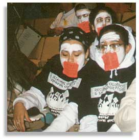 Students during a UCSA protest in support of affirmative action, January 1996. Photo: UCSA.